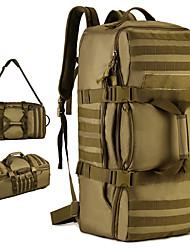Недорогие -60 L Рюкзаки / Заплечный рюкзак - Дожденепроницаемый, Пригодно для носки На открытом воздухе Походы, Армия, Путешествия Нейлон Коричневый, Серый, Камуфляжный
