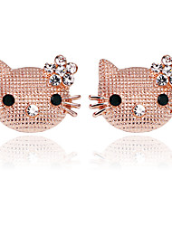 cheap -Women's Cubic Zirconia Stylish / Solitaire Brooches - Cat, Creative Princess Lolita, Sweet, Fashion Brooch Gold / Silver For Wedding / Daily