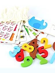 Недорогие -Образовательные игры с карточками деревянный деревянный / Плотная бумага Все Дети / Детские Подарок 1 pcs