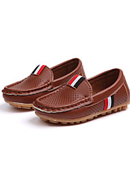 Недорогие -Мальчики Обувь Сетка Наступила зима Удобная обувь Мокасины и Свитер Для прогулок для Дети Белый / Черный / Темно-коричневый