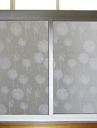 Недорогие -Оконная пленка и наклейки Украшение Милый стиль Цветы ПВХ Прозрачный