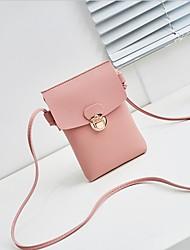 baratos -Mulheres Bolsas PU Telefone Móvel Bag Ziper Vermelho / Rosa / Cinzento