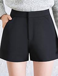 billige -Kvinders bomuld bred benbukser - solidfarvet