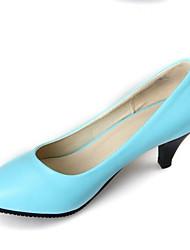 povoljno -Žene Cipele PU Proljeće Obične salonke Cipele na petu Stiletto potpetica Crn / Bež / Plava