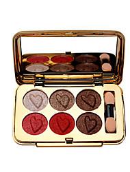 billiga -Makeup 6 färger Ögonskuggor Ögonskugga Lätt att bära / varaktig Vattentät Vardagsmakeup / Festmakeup Smink Kosmetisk