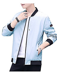 cheap -Men's Jacket - Color Block Stand / Long Sleeve