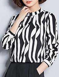 Недорогие -Жен. С принтом Блуза Уличный стиль Геометрический принт / Контрастных цветов