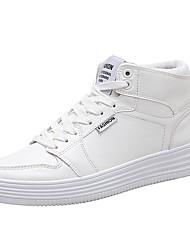 Недорогие -Муж. Полиуретан Наступила зима Удобная обувь Кеды Белый / Черный