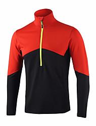 Недорогие -Муж. Длинный рукав Велокофты - Красный Зеленый Синий Сплошной цвет Велоспорт Джерси Верхняя часть, Быстровысыхающий Дышащий Впитывает пот и влагу, Осень Весна, Полиэфирная тафта