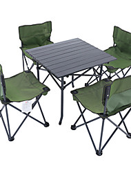 cheap -Shamocamel® Suits / Camping Stool / Camping Table Outdoor Mini Oxford Cloth, Aluminium Alloy for Fishing / Beach / Camping - 4 Black
