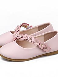 abordables -Fille Chaussures Polyuréthane Printemps & Automne Chaussures de Demoiselle d'Honneur Fille Ballerines Fleur / Scotch Magique pour Enfants Noir / Rouge / Rose