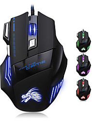 cheap -Factory OEM Wired USB Gaming Mouse keys Led light 4 Adjustable DPI Levels 6 programmable keys