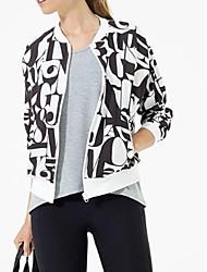 baratos -Mulheres Jaqueta Básico - Letra Estampado