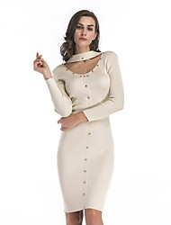 cheap -women's slim a line dress knee-length