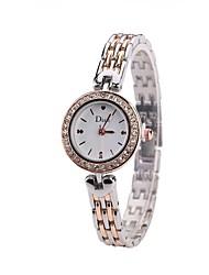 baratos -Mulheres Relógio Elegante / Relógio de Pulso Chinês Novo Design / Relógio Casual / imitação de diamante Lega Banda Casual / Fashion Prata / Ouro Rose
