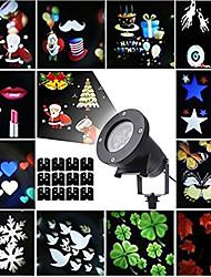 Недорогие -12 шт. хэллоуин рождественские огни газона водонепроницаемый / творческий / проектор свет многоцветный 100-240 В наружное освещение 12 светодиодные бусы