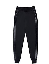 billige -kvinders slanke chinosbukser - solid farvet høj talje