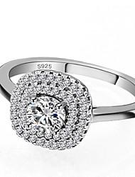 preiswerte -Damen Kubikzirkonia Stapel Ring / Verlobungsring - S925 Sterling Silber Romantisch 5 / 6 / 7 Weiß Für Geschenk / Verabredung