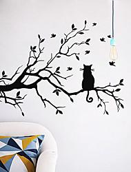 Недорогие -Декоративные наклейки на стены - Наклейки для животных Животные / Цветочные мотивы / ботанический Гостиная / Спальня / Ванная комната