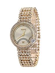 baratos -Mulheres Bracele Relógio / Relógio de Pulso Chinês Novo Design / Relógio Casual / imitação de diamante Lega Banda Fashion / Elegante Ouro Rose