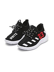 abordables -Fille Chaussures Maille Printemps & Automne Confort Chaussures d'Athlétisme Course à Pied / Tennis Lacet pour Enfants Noir / Gris / Rouge / Couleur Pleine