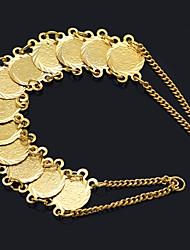 cheap -Women's Coin / Link / Chain Vintage Bracelet / Wide Bangle - Dollars, Lucky Luxury, Classic, Vintage Bracelet Gold For Street / Bar