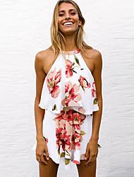Недорогие -Жен. Блуза Юбки Цветочный принт