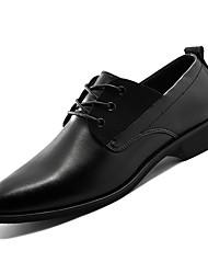 Недорогие -Муж. Лакированная кожа Весна Формальная обувь Туфли на шнуровке Черный / Коричневый