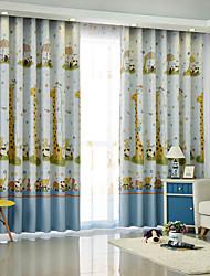 Недорогие -На заказ Солнцезащитные Детские шторы 2 шторы Размер покупателя / Детская