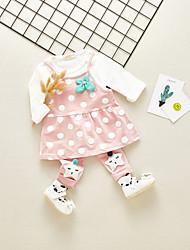abordables -Bebé Chica A Lunares Manga Larga Conjunto de Ropa