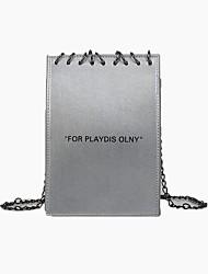 cheap -Women's Bags PU(Polyurethane) Mobile Phone Bag Buttons Black / Silver