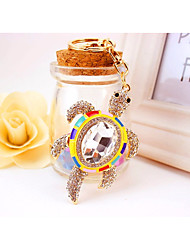 cheap -Turtle Keychain Yellow Irregular, Animal Resin, Imitation Diamond, Alloy Diamond / Rhinestone Decorated Case, Fashion For Gift / Daily