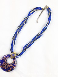 cheap -Women's AAA Cubic Zirconia Braided / Beads Long Necklace / Harness Necklace - Flower Tassel, Ethnic, Boho Red, Blue, Dark Green 65 cm Necklace 1pc For Holiday, Going out