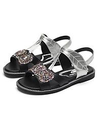 abordables -Fille Chaussures Polyuréthane Eté Confort Sandales Paillette / Scotch Magique pour Enfants / Adolescent Or / Argent