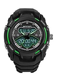 Недорогие -SANDA Муж. Спортивные часы электронные часы Японский Цифровой 30 m Защита от влаги Календарь Хронометр Plastic Группа Аналого-цифровые Роскошь Мода Черный - Зеленый Синий Золотистый