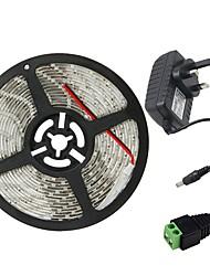 Недорогие -5 метров Гибкие светодиодные ленты 300 светодиоды 3528 SMD 1 адаптер питания x 2A Тёплый белый / Холодный белый / Красный Водонепроницаемый / Можно резать / Компонуемый 100-240 V 1шт / Самоклеющиеся