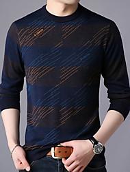 abordables -Homme Manches Longues Pullover - Bloc de Couleur