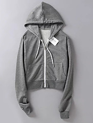 cheap -women's long sleeve hoodie - solid colored hooded