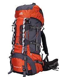 Недорогие -TOPSKY 75 L Заплечный рюкзак - Пригодно для носки, Воздухопроницаемость На открытом воздухе Пешеходный туризм, Восхождение, Лыжи Нейлон Оранжевый, Военно-зеленный