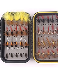 cheap -40 pcs pcs Fishing Hooks / Fishing Accessories Set / Fishing Accessories Flies Feathers / Carbon Steel Light and Convenient / Easy to Use Sea Fishing / Fly Fishing / Bait Casting