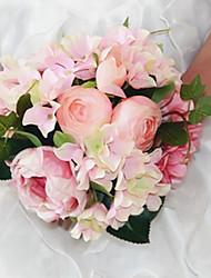 baratos -Flores artificiais 8.0 Ramo Clássico / Solteiro (L150 cm x C200 cm) Estiloso / Pastoril Estilo Rosas Flor de Mesa