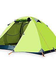 economico -BSwolf 3 persone Tenda da campeggio per famiglie Doppio strato Palo Tenda da campeggio Una camera  All'aperto Anti-pioggia >3000 mm  per Pesca Oxford 210*180*120 cm