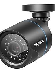 abordables -Caméra résistante aux intempéries sannce® full 720p hd 1.0m ip66 avec système de surveillance de la vision nocturne ir durable toute la saison