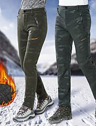 baratos -Unisexo Calças de Trilha Ao ar livre A Prova de Vento, Á Prova-de-Chuva, Respirabilidade Inverno Elastano Calças Esqui / Pesca / Equitação / Com Stretch / Resistente a UV