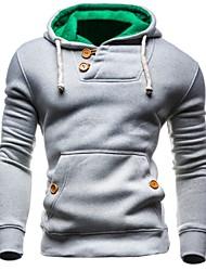 cheap -Men's Long Sleeve Slim Hoodie - Color Block