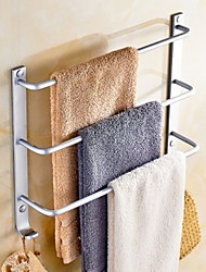 preiswerte -Handtuchhalter Neues Design / Cool Moderne Aluminium 1pc 3-Handtuch-Bar Wandmontage