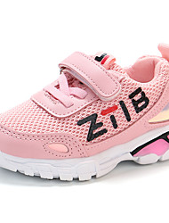 cheap -Girls' Shoes Mesh Fall & Winter Comfort Sneakers Walking Shoes Buckle for Kids Black / Gray / Pink / Slogan