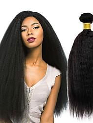 Недорогие -3 Связки Перуанские волосы Вытянутые 8A Натуральные волосы Человека ткет Волосы Пучок волос One Pack Solution 8-28 дюймовый Естественный цвет Ткет человеческих волос Удлинитель Лучшее качество