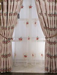 preiswerte -Gardinen Shades Wohnzimmer Zeitgenössisch Baumwolle / Polyester Stickerei