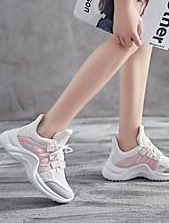 baratos -Mulheres Tênis Borracha Caminhada / Corrida / Cooper Leve, Anti-Shake, Respirável Malha Respirável / Pele PU Amarelo / Azul / Rosa claro